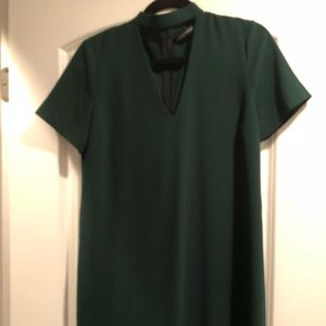 Hunter Green Key Hole Dress